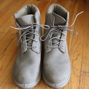 Gray Suede Dr. Martens Unisex Boots
